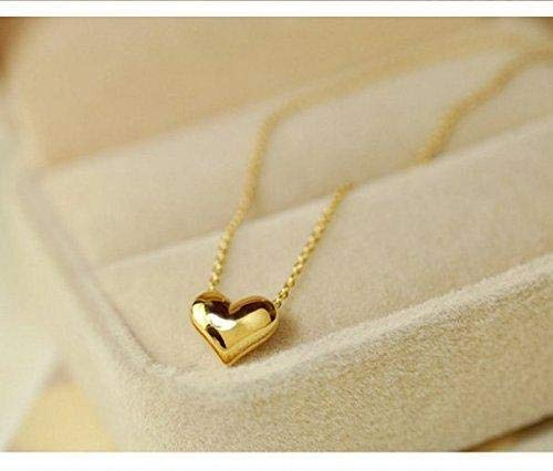 Oldlila Love Heart Choker Necklace Silver Gold Plated Collar Chain