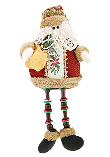 Christmas Holiday Decor Plush Shelf Sitter Sitting Snowman Santa Claus Gift Cute Doll Toy Craft for ()