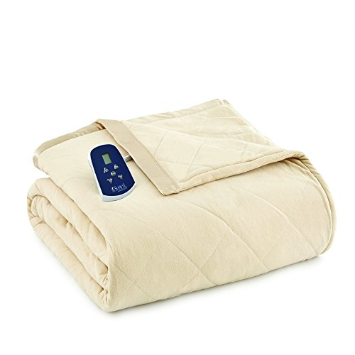 Shavel Home Products Thermee Electric Blanket, Khaki/Tan, King / California King