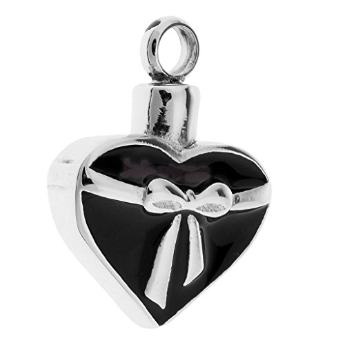 Bowknot Heart Pet Ashes Urn Pendant Memorial Cremains Jewelry Keepsake Gift Necklace Jewelry Crafting Key Chain Bracelet Pendants Accessories Best