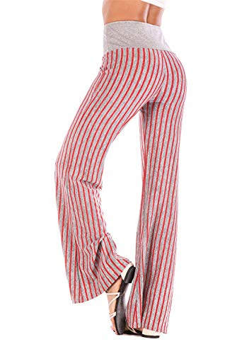 Premium Palazzo Pants for Women and Maxi Skirts - High Waist - Wide Leg(Pink XX-Large)