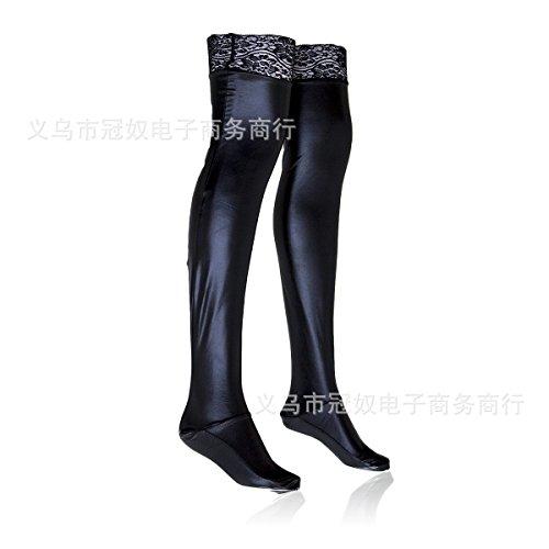 XiaoGao_ les dentelles de cuir noir bas élastiques