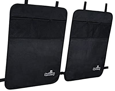 Kick Mats With Organizer - Premium Backseat Protector Seat Covers For Your Car, SUV, Minivan or Truck Seats - Vehicle Back Seat Kids Safety Accessories - Universal Fit Automotive Interior Protectors