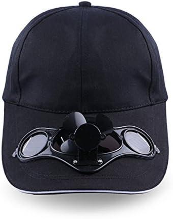 Beautyrain Ventilador solar Sombrero, Ajustable Energía solar ...