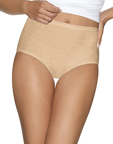 Hanes Womens Ultimate Comfort Cotton 5-Pack Briefs, 40HUCC, 7, Nude - 5k Nude