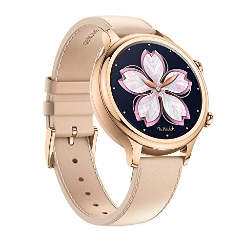 Ticwatch C2, Wear OS Smartwatch for Women with Build-in GPS, Waterproof, NFC Payment, for iOS and Android (Rose ()