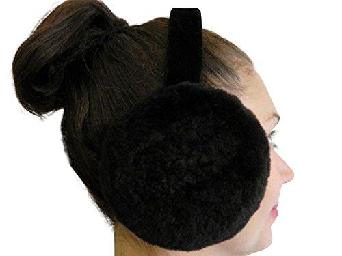 Black Sheared Beaver Ear Muffs Sheared Beaver
