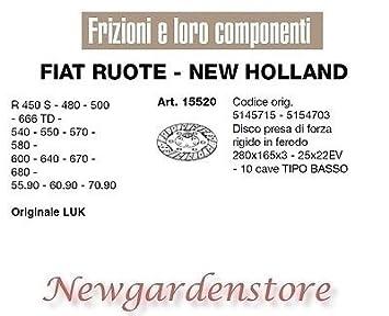 Disco toma de fuerza embrague 280 x 165 x 3 R450 480 500 15520 Fiat New Holland Luk: Amazon.es: Bricolaje y herramientas