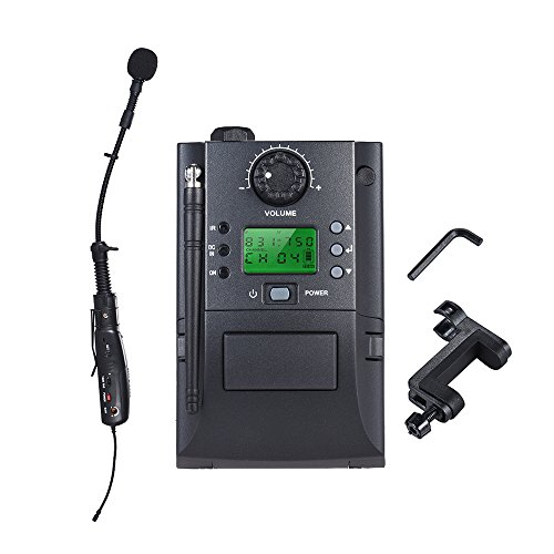 ammoon Wireless Microphone System with Receiver & Transmitter 32 Channels for Violin by ammoon