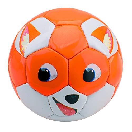EVERICH TOY Toddler Soccer Balls-Cartoon Toy Ball for Kids-Kids Outdoor/Indoor Balls(Orange Fox)