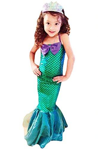 Kid Girl's Halter Bowknot Mermaid Swimsuit Party Cosplay