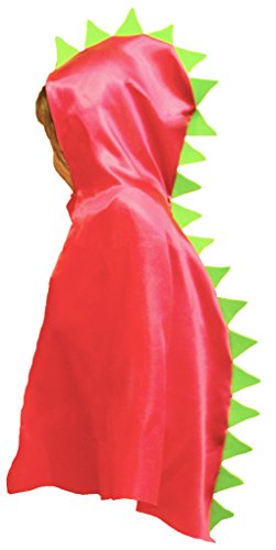 Pretend Play Dinosaur Cape Toddler Girls Dress Up Pink Costume with Spikes for Imaginative (Halloween Costume Ideas For Toddlers)