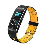 layal F10 Smart Bracelet Orange Watchband Heart Rate Monitor Blood Pressure Sleep Sedentary Reminder Fitness Tracker for Women