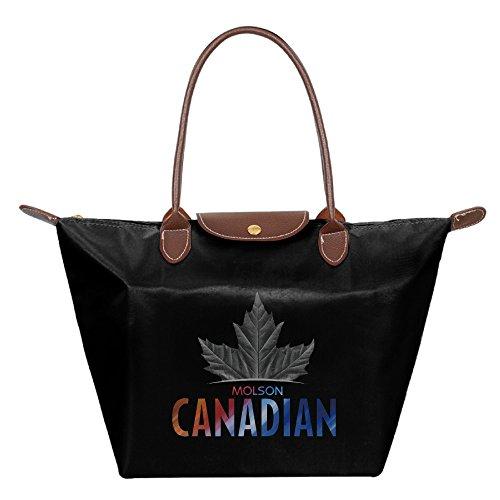 womens-water-resistance-nylon-foldable-large-tote-bag-molson-canadian-shopping-shoulder-handbags-bla