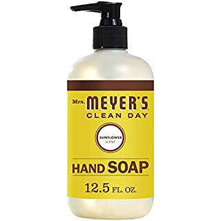 Mrs. Meyer's Clean Day Liquid Hand Soap, Cruelty Free and Biodegradable Formula,  Sunflower Scent, 12.5 oz