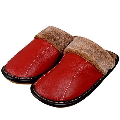 Lianaio Donna Spessa Caldo E Suola Invernali Di Uomo Pantofole Cotone Adatto 35 Casa 39 Per Antiscivolo Pelle 40 36 Con In Da rZzqr8xw