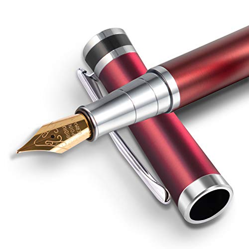BEILUNER Luxury Fountain Pen Set, Stainless Steel