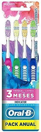 Oral-B Escova Dental Indicator, Colors 35 - 4 unidades