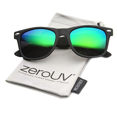 zeroUV ZV-8030f Polarized Wayfarer Sunglasses, Black, 58 ()