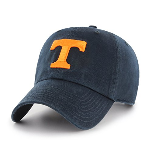OTS NCAA Tennessee Volunteers Challenger Clean Up Adjustable Hat, Navy, One (Tennessee Volunteers Hat)