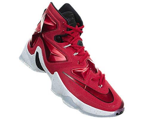 72fe192000e4 Nike Men s Lebron XIII Unvrsty Red White Blk Lsr Orng Basketball Shoe -