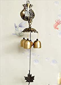 LingStar Fukubukuro Triple Bell Metal Wind Chimes