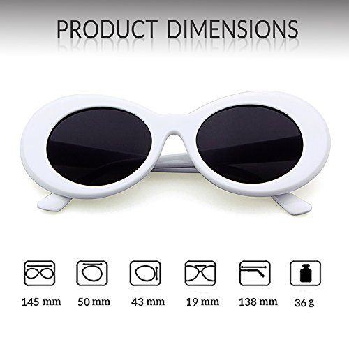 White Oval Sunglasses ADEWU Goggles Clout nYCwfqxIgB