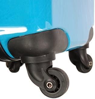Valise Cabine pour Enfant Gar/çon ABS//PC Bleu T002BL
