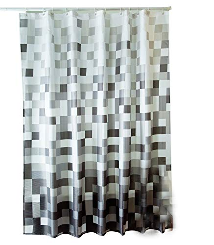 Sfoothome Polyester Fabric Shower Curtain Waterproof Bathroom Shower Curtains - 100% Polyester 100% durable polyester shower curtain has weights at the bottom of it - shower-curtains, bathroom-linens, bathroom - 41azyBrmEUL -