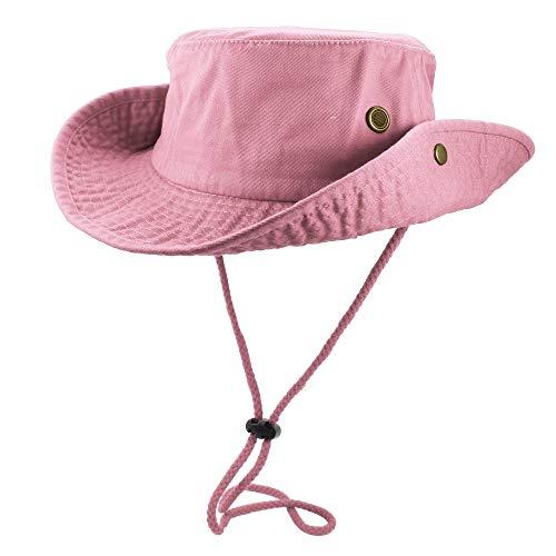 Gelante 100% Cotton Stone-Washed Safari Booney Sun Hats 1910-Pink-S/M]()