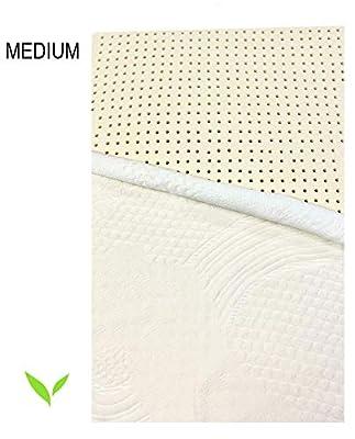"OrganicTextiles Organic 100% Latex Mattress Topper Medium Firmness 3"""