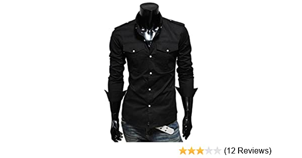 Winwinus Mens Long Sleeve Printed Button Loose Fit Western Shirt
