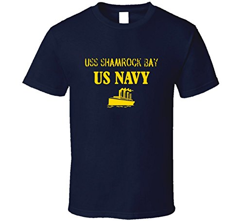 USS Shamrock Bay US Navy Ship Crew T Shirt 2XL (Uss Shamrock Bay)