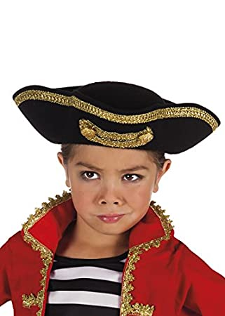Kids Size Deluxe Pirate Tricorn Hat  Amazon.co.uk  Toys   Games b4fc0ee35c7a