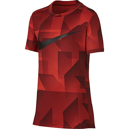 NIKE Boys Short Sleeve All Over Print Training Top