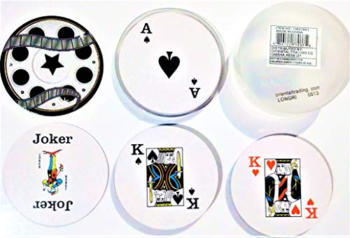 Movie Reel Shaped Playing Cards with Case