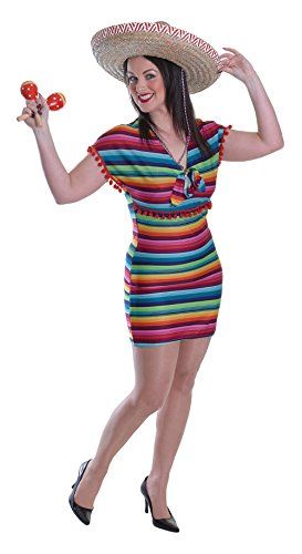 Bristol Novelty AC527 Mexican Lady Dress Costume (UK 10-14)