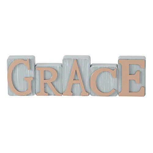 Grace Milk Paint Gray Milk Paint Gray 2.5 x 8.5 Wood Table Top Sign Plaque ()