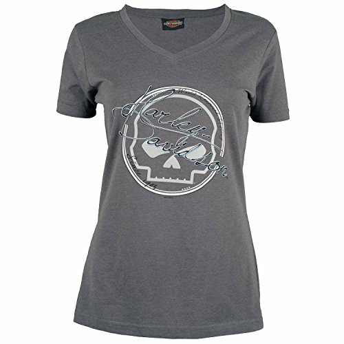 Davidson Harley Sturgis (Sturgis Harley-Davidson Women's Genuine Charcoal V-Neck T-Shirt (Small))