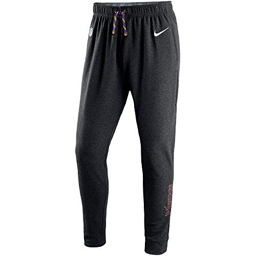Nike Men's Minnesota Vikings Therma-Fit Circuit NFL Training Pants -Anthracite Black (XX-Large) ()