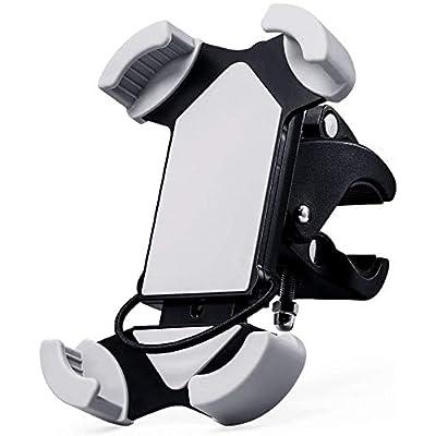 Amoner Bicycle Phone Mount, Universal Handlebar Bike Motorcycle Phone Holder