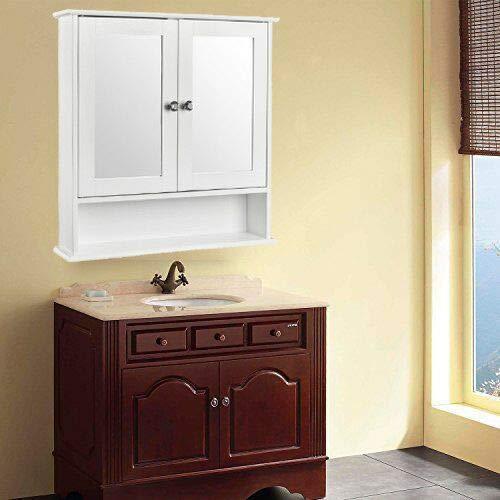 Wall Mount Bathroom Cabinet Storage Organizer Medicine Cabinet Kitchen -