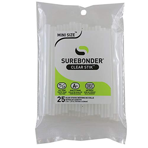 Surebonder DT-25 Made in the USA All Purpose Stik Mini Glue Sticks-All Temperature-Clear-5/16
