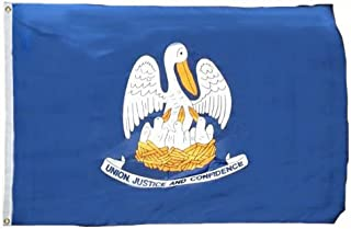 product image for Valley Forge Louisiana Flag 5ft. x 8ft. Spun Heavy Duty Polyester