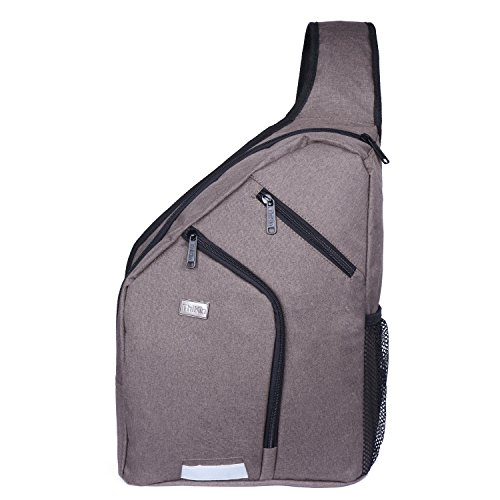 Youngerbaby Large Sturdy Crossbody Sling Bag Men Women Casual Travel Chest Bag