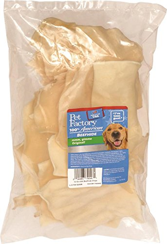 PET FACTORY 79046 USA Beef Hide Natural Chips, 12 oz