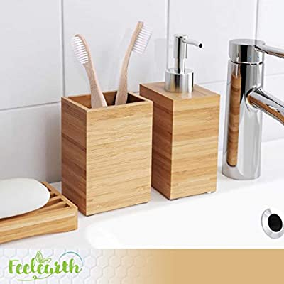 Bamboo Toothbrush - Natural Eco - Biodegradable Handles - Soft and Medium Bristles for Adults - BPA Free - Pack of 4