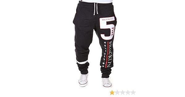 Los hombres pantalones de chándal Número 5 Brooklyn sudor Deporte Pantalones aptitud Sweatpants pantalones de entrenamiento, Gris oscuro L: Amazon.es: Ropa ...