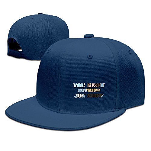 Texhood Cool YOU KNOW NOTHING JON SNOW Hip-hop Baseball Hat Navy
