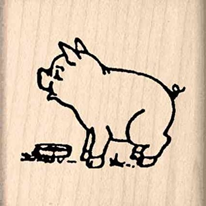 amazon com stamps by impression pig rubber stamp arts crafts sewing